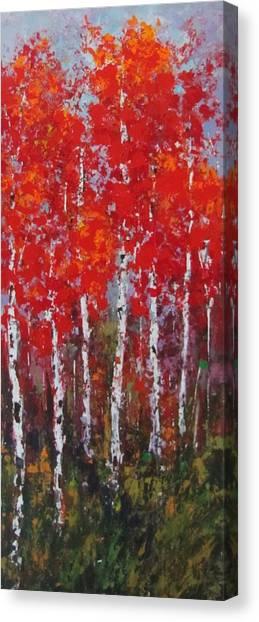 Flaming Autumn Canvas Print by Vicki Conlon