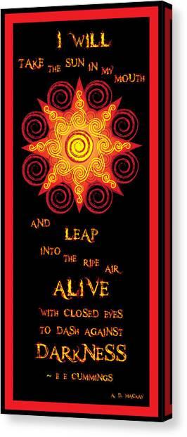 Flaming Celtic Sun Canvas Print