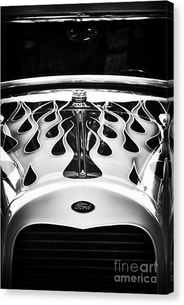 Street Rods Canvas Print - Flaming Cool by Tim Gainey