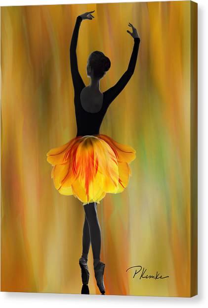 Flaming Grace Canvas Print