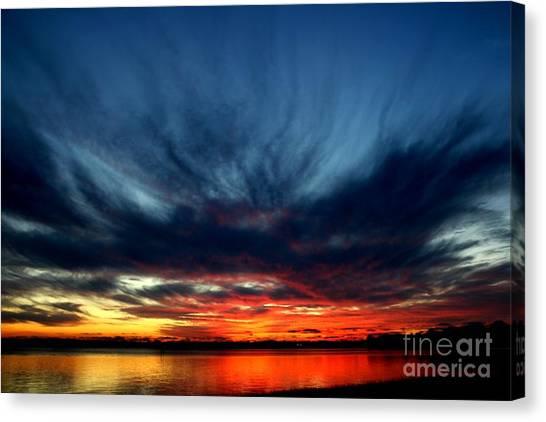Flaming Hues Canvas Print