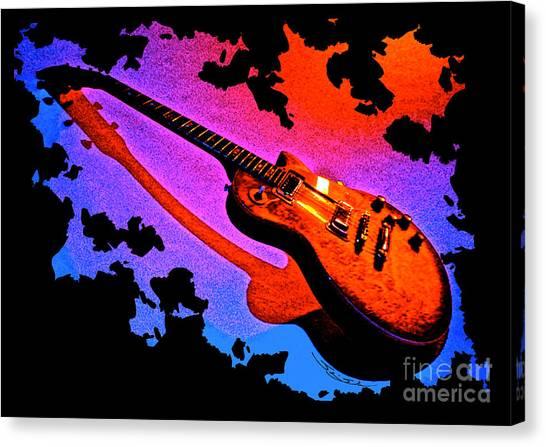 Flaming Rock Canvas Print