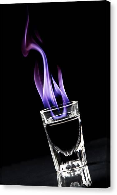 Flames Canvas Print - Flaming Sambuca by Samuel Whitton