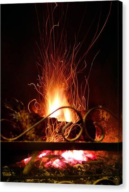 Flaming Wizard Canvas Print
