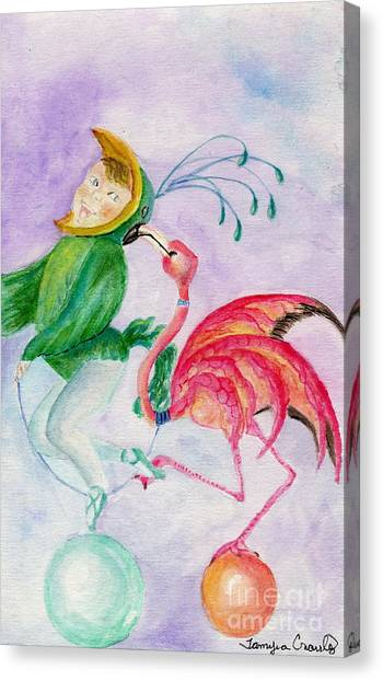Flamingo Circus Canvas Print