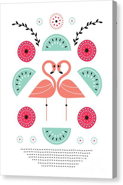 Melons Canvas Print - Flamingo Flutter by Susan Claire