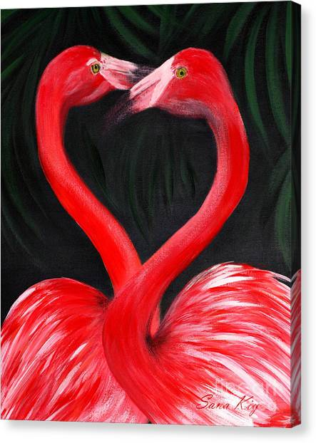 Love  Is... Flamingo Love. Inspirations Collection Canvas Print