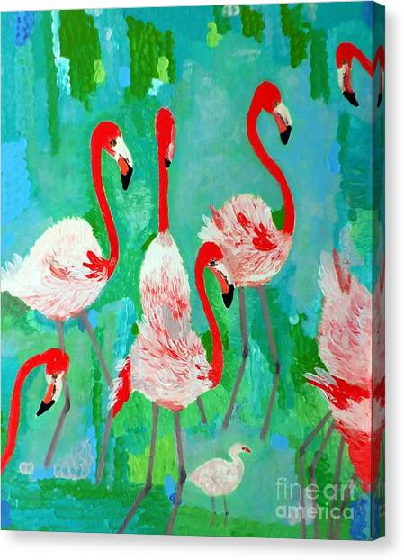 Flamingos 1 Canvas Print