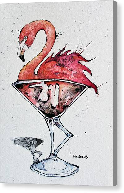 Flamingos Canvas Print - Flamingotini by Mark M  Mellon