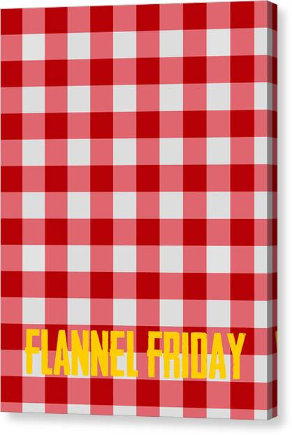 Flannel Canvas Print - Flannel Friday by Celestial Images
