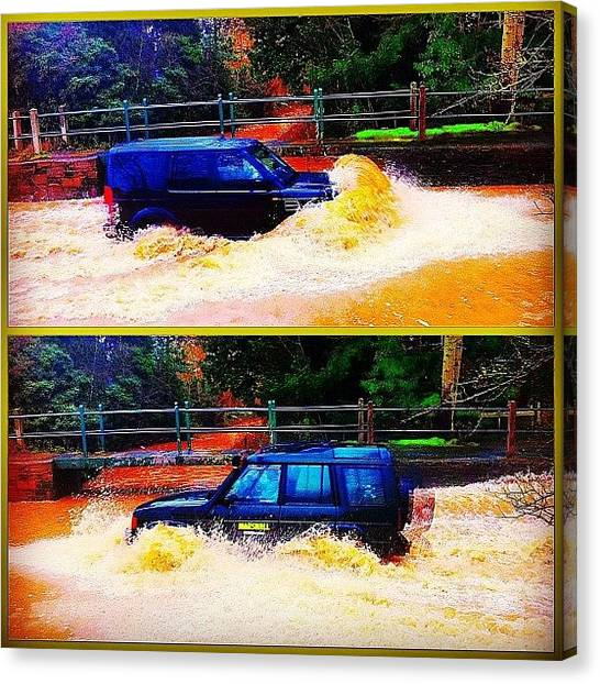 Offroading Canvas Print - Flash Floods In March by Urbane Alien