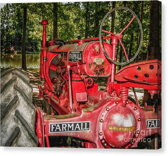 Flash On Farmall Canvas Print