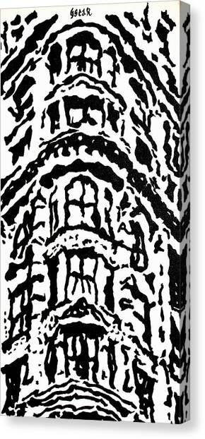 Flat Iron Building Canvas Print