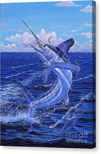 Sportfishing Canvas Print - Flat Line Off0077 by Carey Chen
