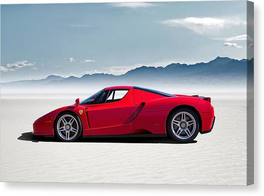 Ferrari Canvas Print - Flat Out  by Douglas Pittman