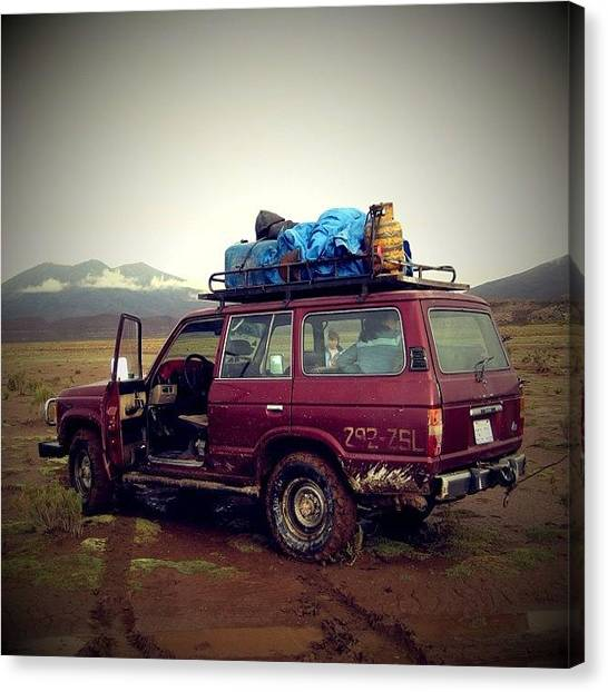 Atacama Desert Canvas Print - Flat Tire #desert #atacama #uyuni #salt by Pedro Miranda