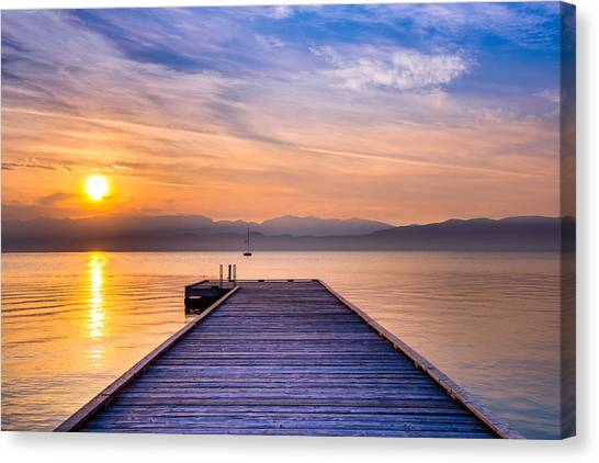 Flathead Lake Sunrise Canvas Print