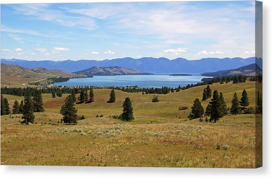 Flathead Lake View Canvas Print