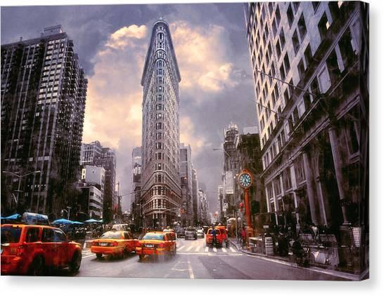 Flatiron Building Canvas Print by John Rivera