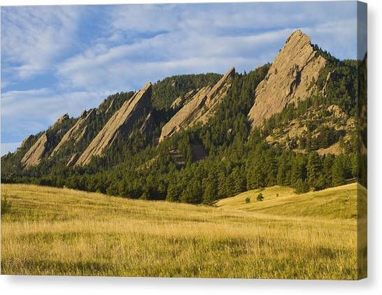 Flatiron Morning Light Boulder Colorado Canvas Print