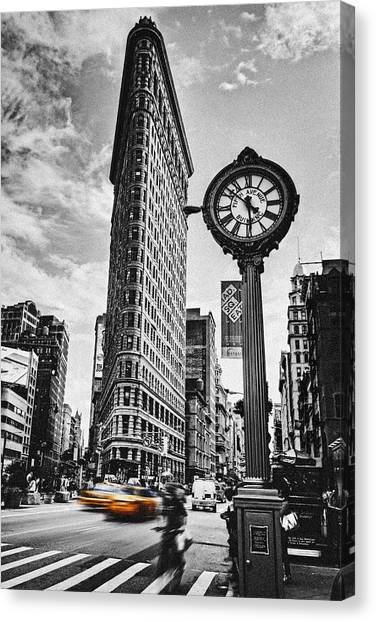 Taxi Canvas Print - Flatiron Rush by Andrew Paranavitana