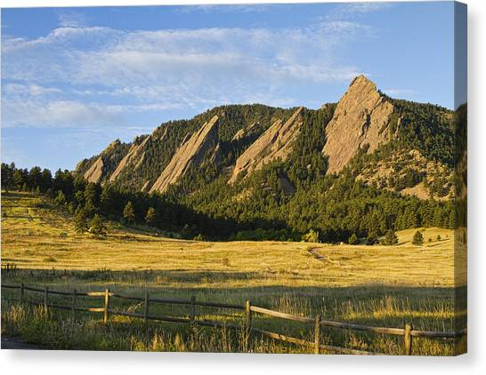 Flatirons From Chautauqua Park Canvas Print
