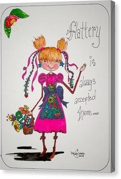 Flattery Canvas Print by Mary Kay De Jesus