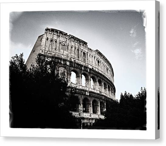Flavian Amphitheater Canvas Print