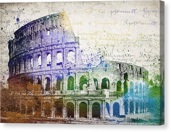 The Colosseum Canvas Print - Flavian Amphitheatre by Aged Pixel