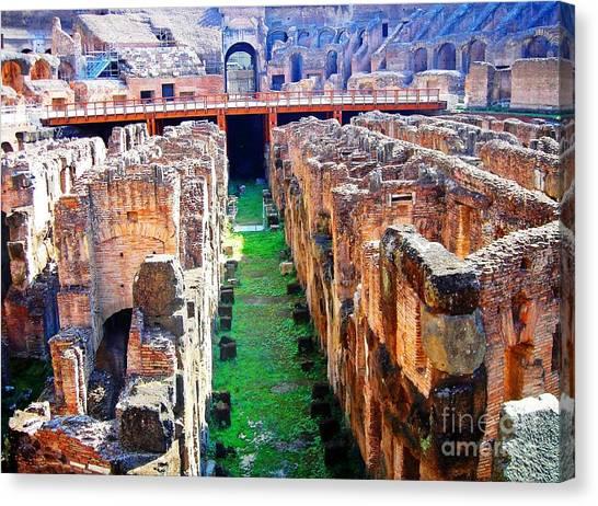 Flavian Amphitheatre Canvas Print