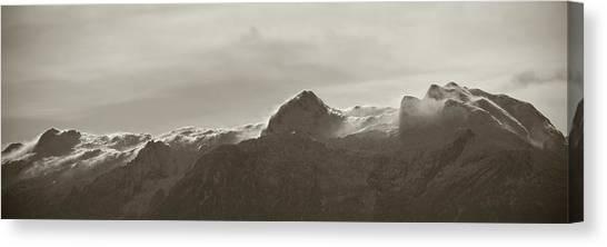 Susann Serfezi Canvas Print - flawy mount peak I by AugenWerk Susann Serfezi