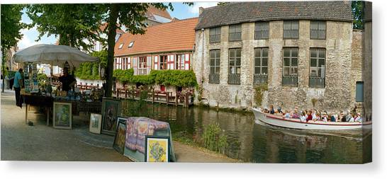 Fleas Canvas Print - Flea Market At A Canal, Dijver Canal by Panoramic Images