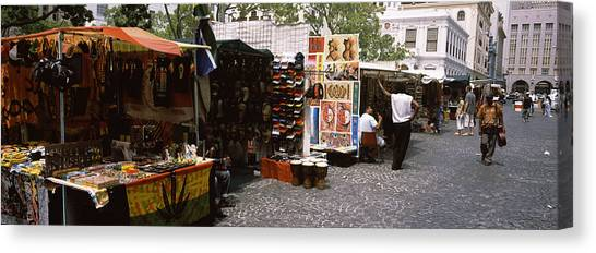 Fleas Canvas Print - Flea Market At A Roadside, Greenmarket by Panoramic Images