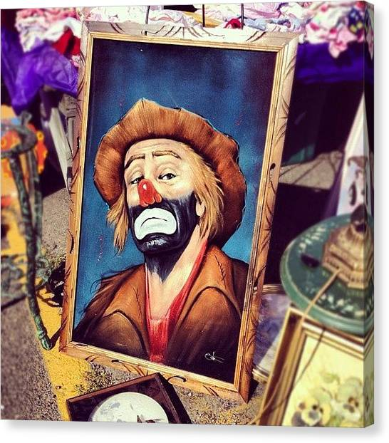 Fleas Canvas Print - Flea Market Clown by Michael Gonzalez