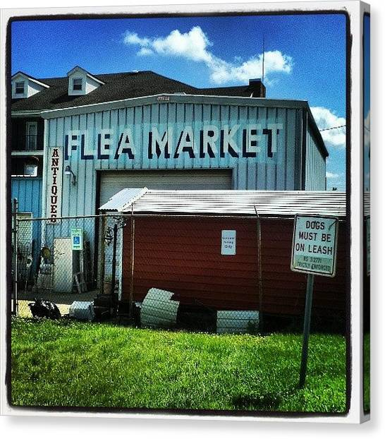 Fleas Canvas Print - #flea #market #nola by Glen Abbott