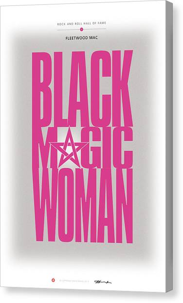 Mac Digital Music Canvas Print - Fleetwood Mac - Black Magic Woman by David Davies