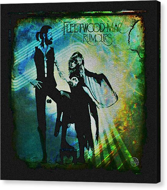 Colleges And Universities Canvas Print - Fleetwood Mac - Cover Art Design by Absinthe Art By Michelle LeAnn Scott