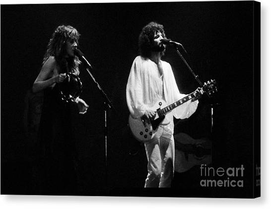 Fleetwood Mac In Amsterdam 1977 Canvas Print
