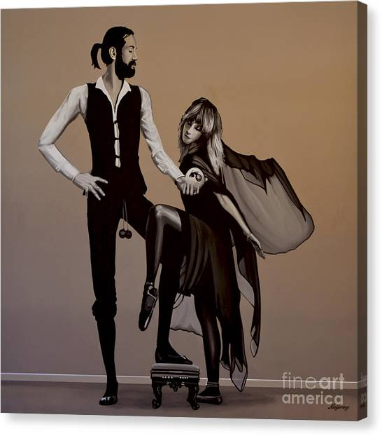 Singers Canvas Print - Fleetwood Mac Rumours by Paul Meijering
