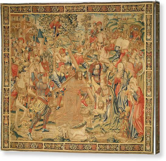 Dye Canvas Print - Flemish 16th Century, The Procession To Calvary by Quint Lox