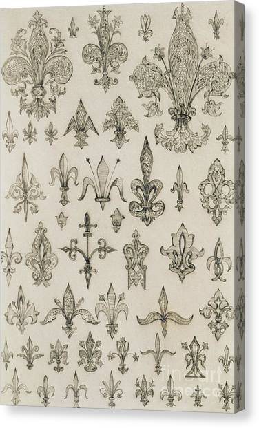 New Orleans Saints Canvas Print - Fleur De Lys Designs From Every Age And From All Around The World by Jean Francois Albanis de Beaumont