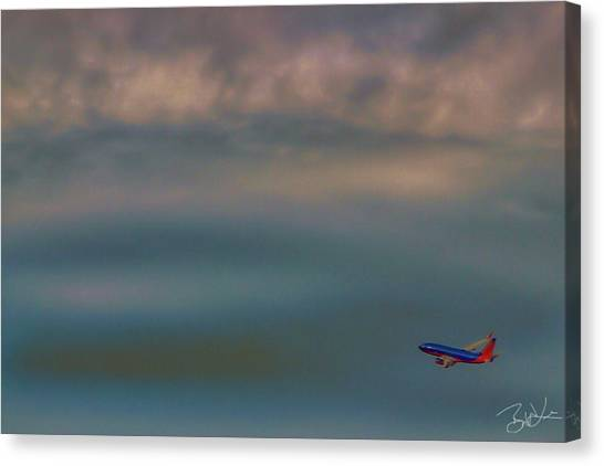 Jets Canvas Print - Flight 709 by Brian Lea