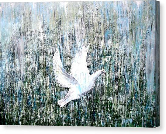 Freedom Struggle Canvas Print - Flight Against Odds by Karunita Kapoor