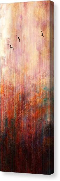 Flight Home - Abstract Art Canvas Print