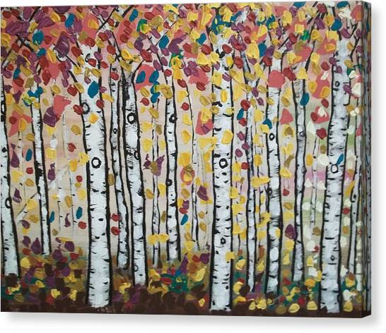 Flight Of Leaves Canvas Print