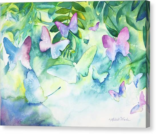 Flight Of The Butterflies Canvas Print