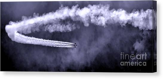 F16 Canvas Print - Flight Of The Thunderbirds by Olivier Le Queinec