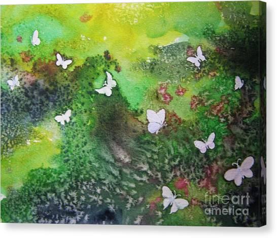 Flight Of White Canvas Print