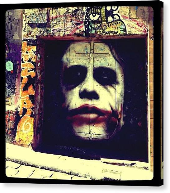 Heath Ledger Canvas Print - The Joker Legend by Travis Macfarlane