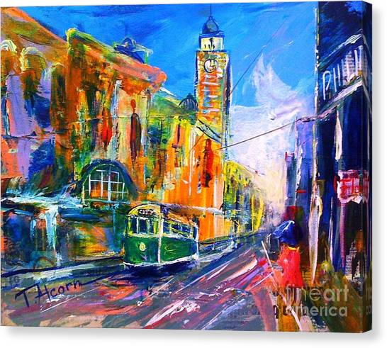Flinders Street - Original Sold Canvas Print